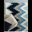 Matrix Chevron Kék Szőnyeg 80x150 cm