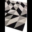 Reef Geometrikus Fekete Futó Szőnyeg 66x200 cm