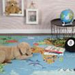 MyTorino Kids 233 World Map Gyerekszőnyeg 120x170 cm
