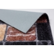 Pure & Soft szőnyeg 50x70cm Antracit/barna kockás