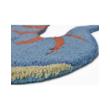 Kék Színű Dinó Formájú 4 gyerekszőnyeg