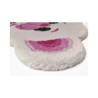 Jegesmedve formájú gyerekszőnyeg pink/elefántcsont színű  60x90 cm
