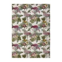 Calypso 396 fehér kültéri szőnyeg flamingókkal 160x230 cm
