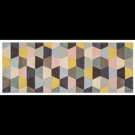 Funk Hexagon Pasztell Futó Szőnyeg 70x200 cm