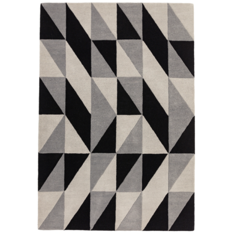 Reef Geometrikus Fekete Szőnyeg 120x170 cm