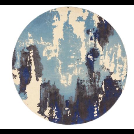 Saturn Kék Kör Szőnyeg 200x200 cm