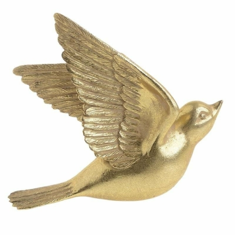 BirdyGold - arany madárka dekoráció (nagy)