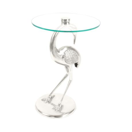 ezüst gém asztal
