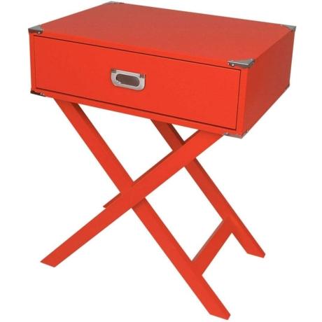 piros asztal