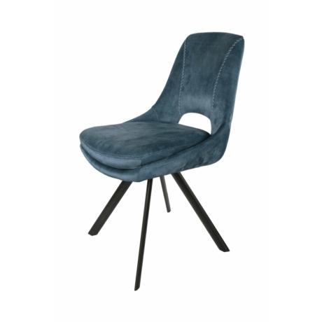 bársony fotel kék