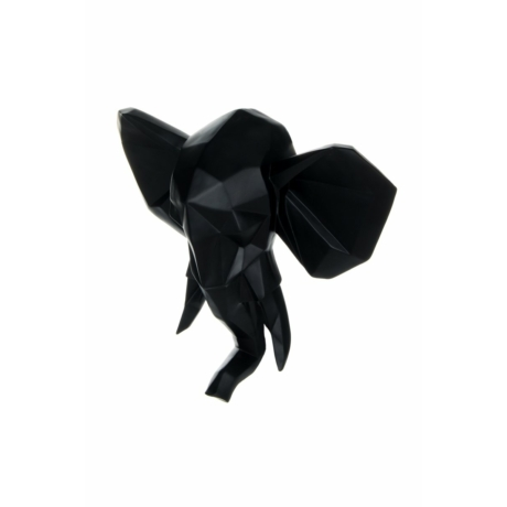 Fali Elefánt 110 fekete szobor