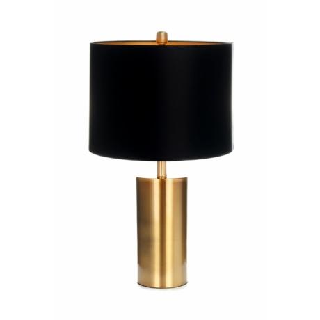 fekete arany asztali lámpa