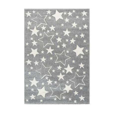 Amigo 329 Ezüst Gyerekszőnyeg Csillagokkal 80x150 cm