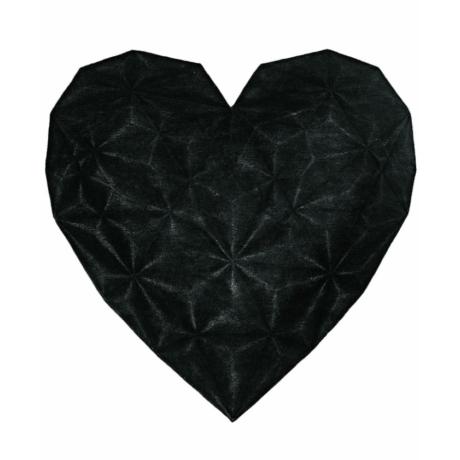 Regina di Cuori Fekete Szív Szőnyeg 200x200 cm