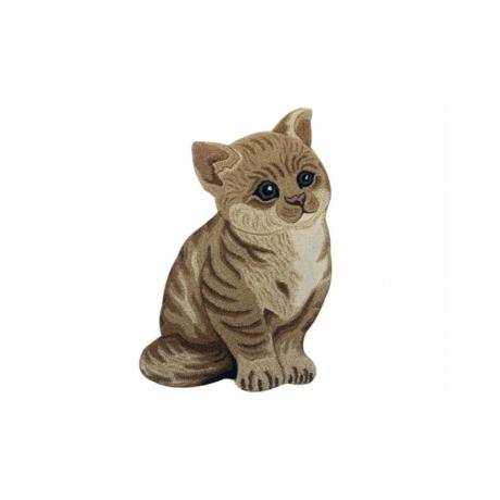 Barna cica formájú gyerekszőnyeg 60x90 cm