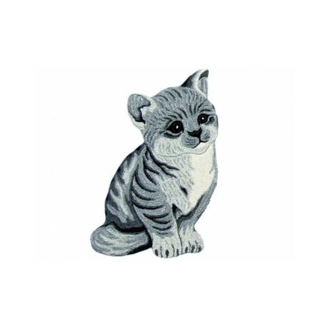 Szürke cica formájú gyerekszőnyeg 60x90 cm