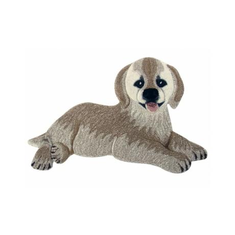 Arany színű kutya formájú gyerekszőnyeg 60x90 cm