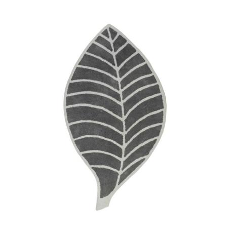 Leaf levél formájú szőnyeg szürke/elefántcsont színű 60x120 cm